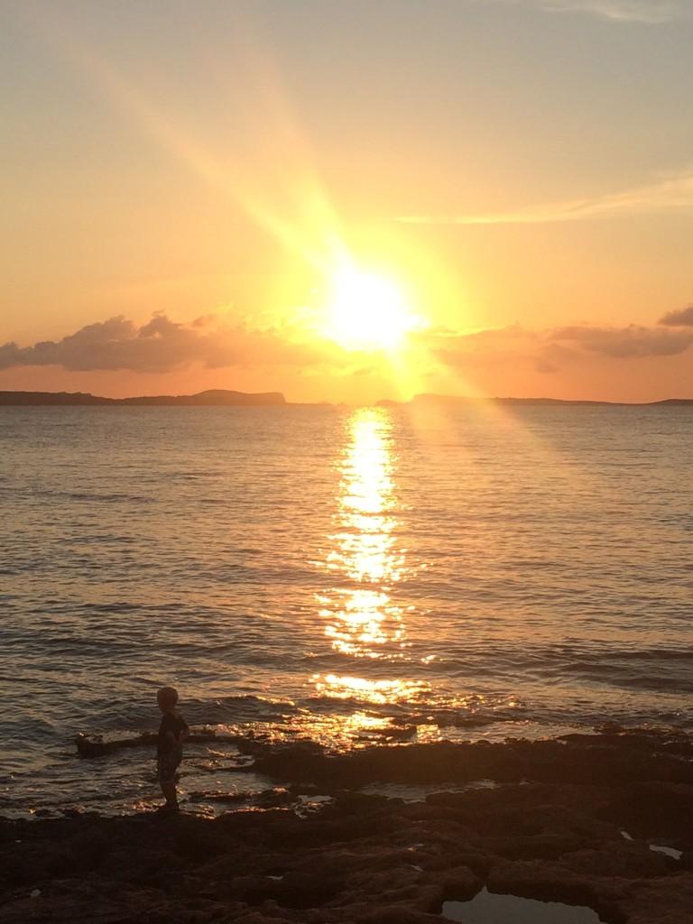 イビサ島の夕日