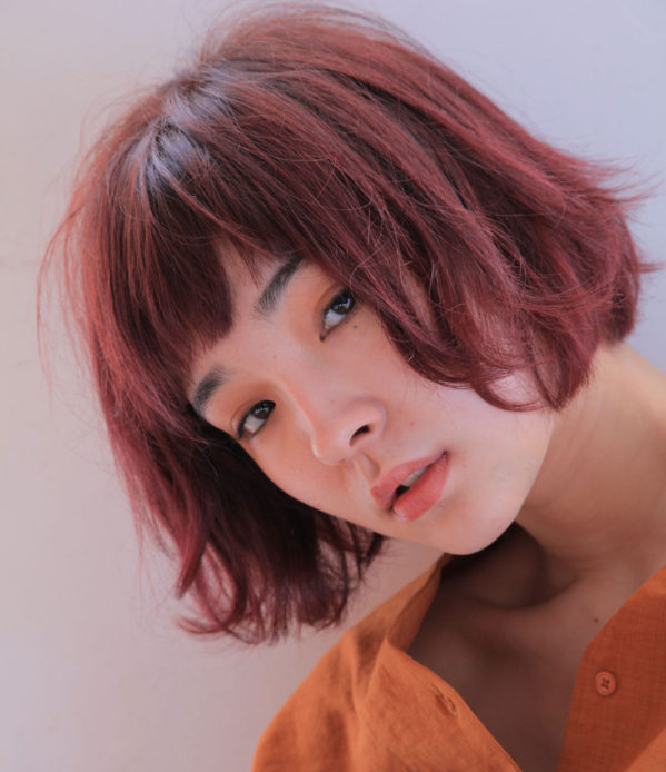 フェミニン+ちょいモード【ショートカット】