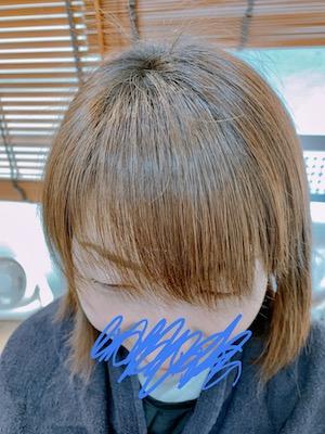 前髪流れるパーマ